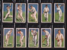 Cigarette cards Cricketers 1930 set of 50 By Players